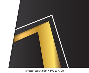 Abstract gold geometric vector background with triangles.