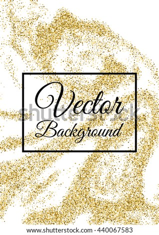 abstract gold glitter template birthday party stock vector royalty