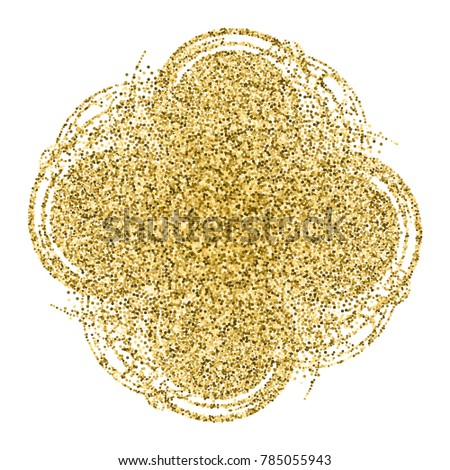 abstract gold glitter template logo blobs stock vector royalty free