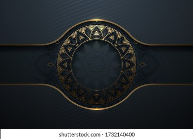 Abstract gold luxury pattern background