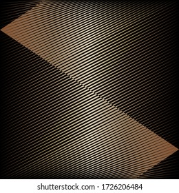 Abstract gold pattern, halftone lines dynamic background, vector modern design texture for card, cover, poster, decoration.