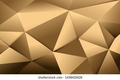 Abstract gold polygonal and luxury pattern background