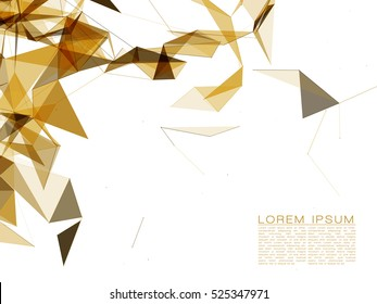 Abstract Gold Shapes on White Background | EPS10 Futuristic Design
