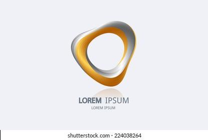 Abstract gold and silver logo. Vector logotype design.