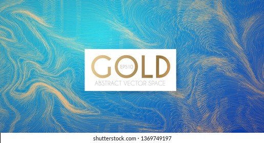 Abstract Gold Wave Texture. Motion Flying Mackgound. Fluid Backdrop.