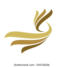 Abstract Gold Wing Logo Template Illustration Design. Vector EPS 10.