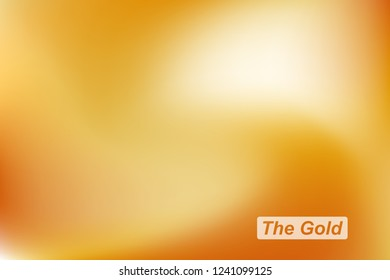 Abstract golden blur background. Gold vector template for graphic and web design
