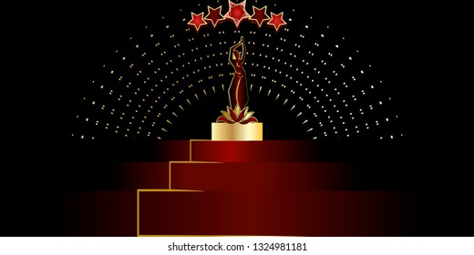 Abstract golden bollywood woman .Cinematography and theater poster. - Vector