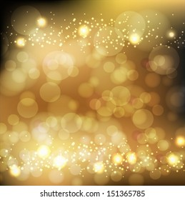 Abstract Golden Holiday Background. Vector EPS 10 illustration.