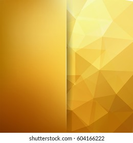Abstract golden mosaic background.  Blur background.  Triangle geometric background. Design elements. Vector illustration. Yellow, beige, brown colors.