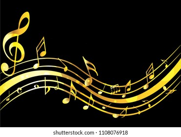 Music Wave Gold Images Stock Photos Vectors Shutterstock