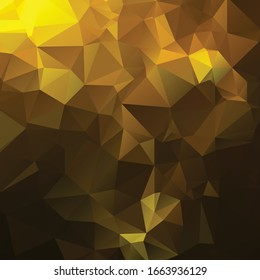 Abstract golden polygon texture background