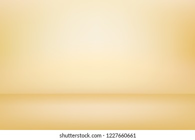 Abstract golden showcase background. Gold vector template for graphic and web design.