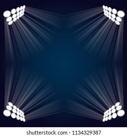 Abstract gradient background with stadium lights and light rays