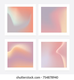 Abstract gradient backgrounds in soft pastel colors