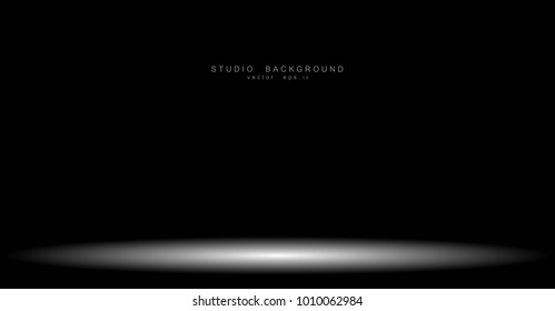 Abstract gradient black, used as background for display your products . eps10 vector illustration