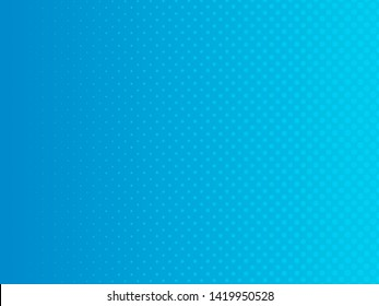 Abstract gradient blue dots background. Vector illustration in comic style