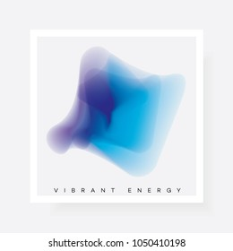 Abstract gradient blurred shape in blue and purple color hues