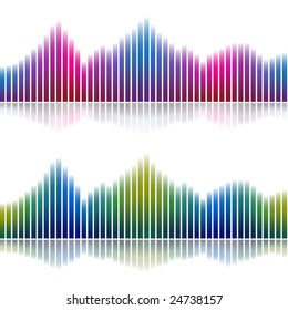 Abstract gradient charts with reflection