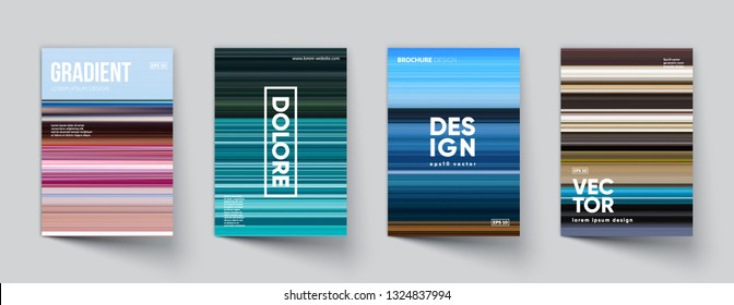 Abstract gradient covers set. Eps10 vector.