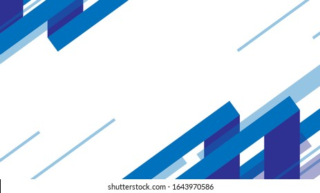 abstract gradient geometric background. flat design elements oblique lines and oblique rectangles with empty space in the middle. background stock vector