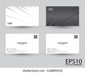 abstract gradient gray color namecard pattern background.