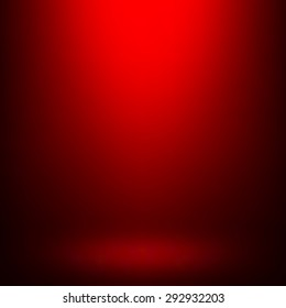 Abstract gradient red, used as background for display your products - Vector