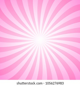 Abstract gradient spiral ray background - vector graphic design
