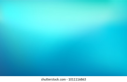 Abstract Gradient teal background. Blurred turquoise water backdrop. Vector illustration for your graphic design, banner, summer or aqua poster