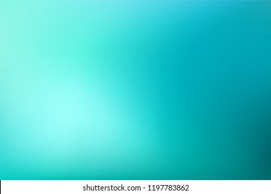 Abstract Gradient teal mint background. Blurred turquoise blue green water backdrop. Vector illustration for your graphic design, banner, summer or aqua poster