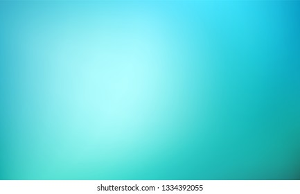 Abstract Gradient teal mint blue background. Blurred turquoise green water backdrop. Vector illustration for your graphic design, banner, summer or aqua poster with place for text