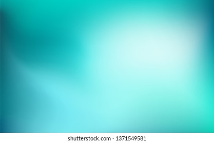 Abstract Gradient teal white background. Blurred mint turquoise green water backdrop for your graphic design, banner, summer, winter or aqua poster