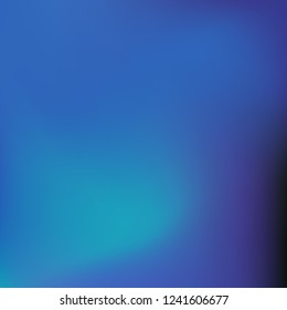 Abstract gradient vector. Blue gradient blurred abstract background. Multicolor blurry blend. Holographic illustration. Smooth texture. Beautiful natural light vector. Soft blue, green, bright mesh.