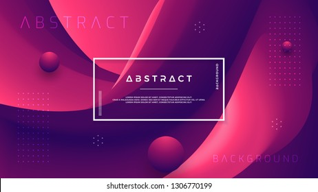 Abstract gradient wave background with a combination of red and dark purple. Dynamic background color flow. Eps10 vector background.