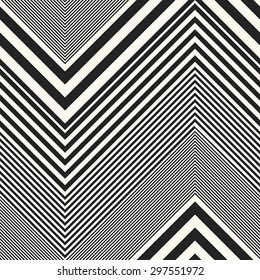 Abstract gradually striped chevron. Seamless pattern.