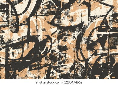 Abstract Graffiti Background. Grunge Halftone Textures. Vector illustration.