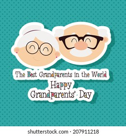 abstract grandparents day background with special objects
