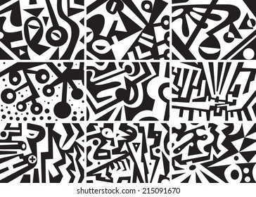 abstract graphic backgrounds set