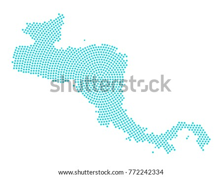 Abstract Graphic Central America Map Blue Stock Vector (Royalty Free ...