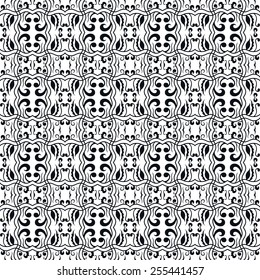 Abstract graphic seamless background. Hand drawn geometric pattern. Can be used for card design, wallpaper, pattern fills, web page background, surface textures. Monochrome pattern. Black and white