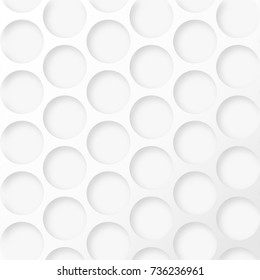 Abstract graphic texture vector background, grill surface with round hole, drop shadow. Elegant minimalistic backdrop