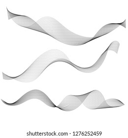 Abstract graphic waves and lines isolated on white background. Design example for background, booklet or business card.