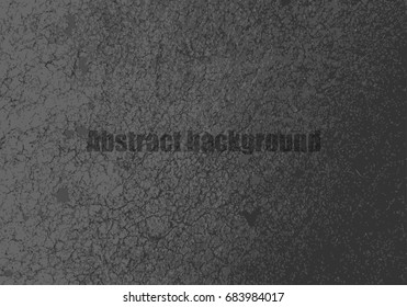 Abstract gray background, cement or concrete wall, and tire track. Vector illustration design for website template with copy space.
