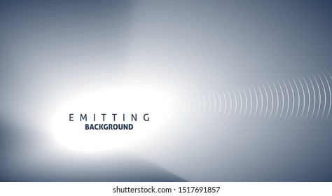 Abstract gray blue emitting background with copy-space. Vector graphic pattern
