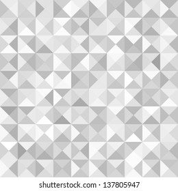 Abstract Gray Geometric Technology Background, vector illustration