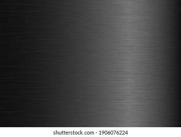 Abstract gray gradient metallic texture. Vector background.