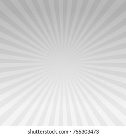 Abstract Gray gradient rays background. Vector EPS 10, cmyk