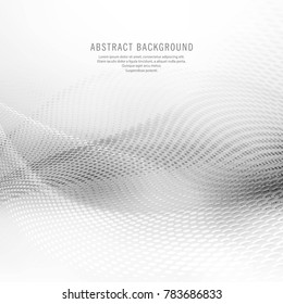 Abstract gray mesh wave background