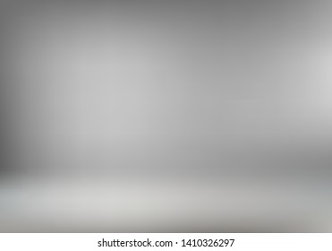 Abstract gray room interior background or wallpaper for product display. Empty studio photoshoot backdrop for your advertising design. Vector illustration
