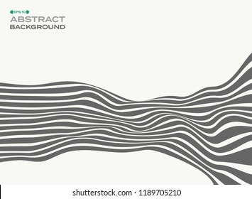 Abstract of gray stylish strip lines wave wave pattern background, illustration vector eps10